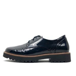 Mephisto High Gloss Leather Oxford Loafers